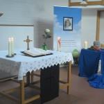 Urnendekoration in der Trauerhalle Estenfeld